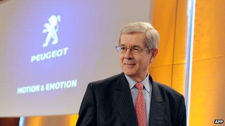 Peugeot Chief Executive Philippe Varin