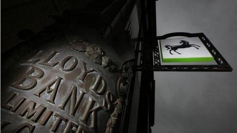 Lloyds Bank sign