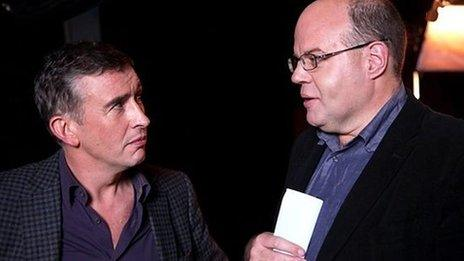 Steve Coogan with Mark Lawson