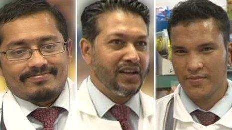Murshed Miah, Abdul Hannan and Mohammed Liakat Islam