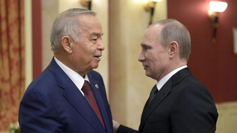 Islam Karimov and Vladimir Putin in Sochi (February 2014)