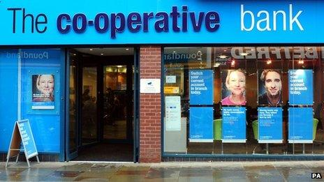 A view of a Co-operative Bank branch