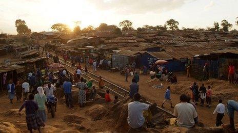 A Kenyan slum