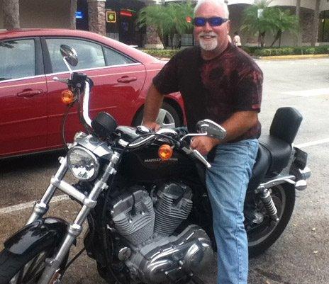 Bill in Florida on his Harley Davidson