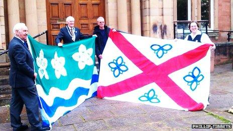 Cumberland and Penrith flags
