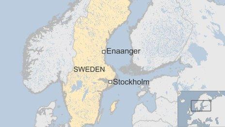 BBC map of Enaanger in Sweden