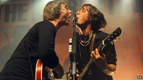 Pete Doherty and Carl Barat from The Libertines