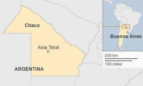 Map showing location of Chaco