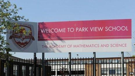 Outside of Park View School