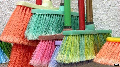 recycled brooms