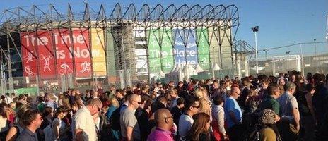 Crowds at Celtic Park