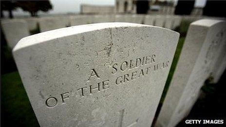 Grave of a WW1 soldier