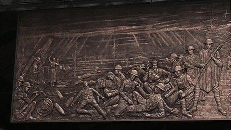 Liverpool Pals fighting in World War One