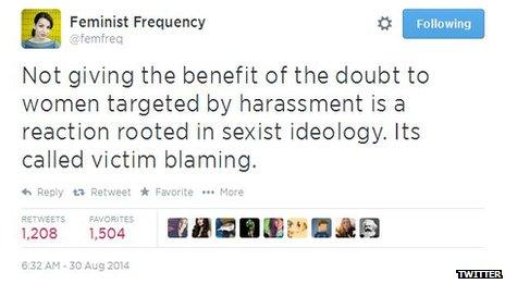 Anita Sarkeesian tweet