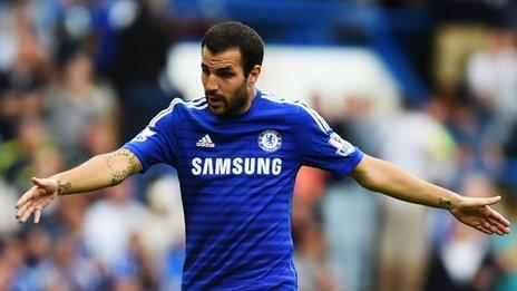Chelsea midfielder Cesc Fabregas