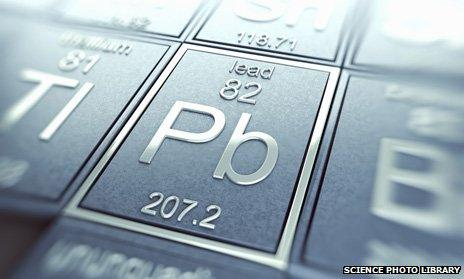 Lead in the periodic table