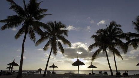 Mauritius at dusk