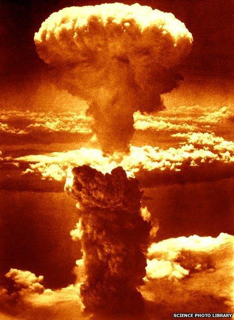 Atomic blast over Nagasaki