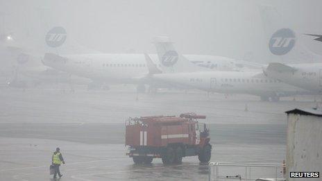 "Vnukovo-3 Business Aviation Centre, Moscow""s Vnukovo airport, 21 October."
