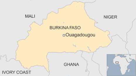 Map showing Burkina Faso