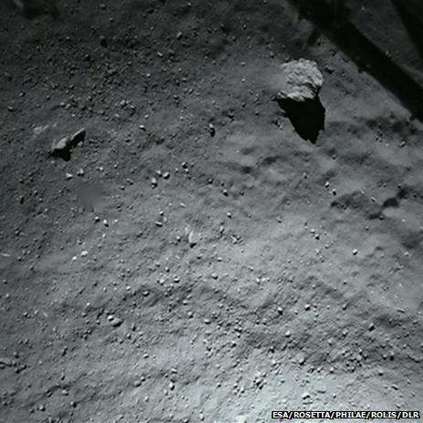 comet surface from 40m
