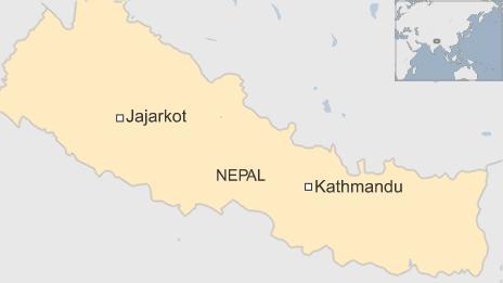 Map of Jajarkot region in Nepal