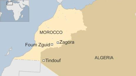 Prosperi started near Foum Zguid and was found in Tindouf 300km from the finishing line in Zagora - the Marathon des sables route changes every year