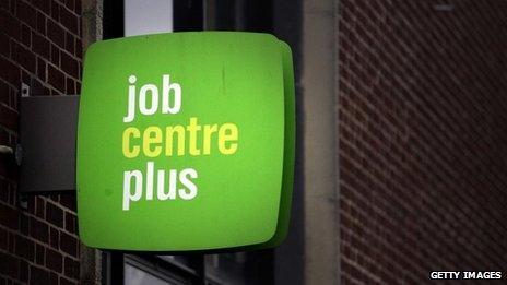 A Job Centre plus sign