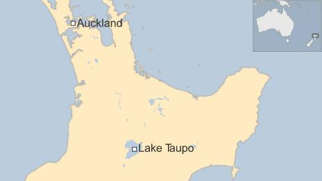 Map of New Zealand North island