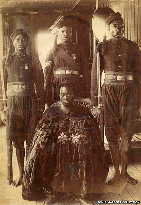 The Oba of Benin on his way to exile in 1897