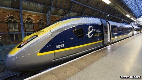 Eurostar's brand new e320 train