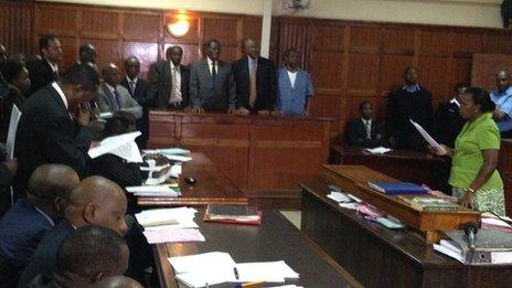 The courtroom in Nairobi where seven officials were charged in connection with the Anglo Leasing scandal in Kenya - Wednesday 4 March 2015