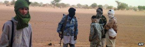 Islamist fighters in northern Mali - August 2012