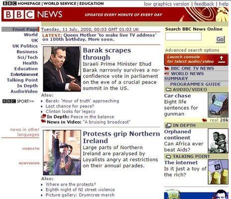 BBC News site in 2000