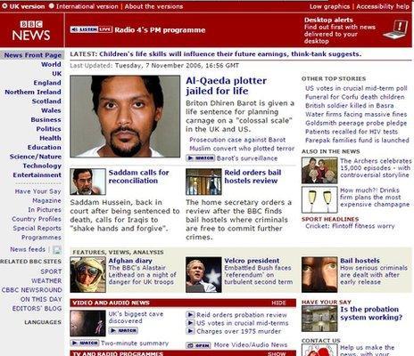 BBC News site in 2006
