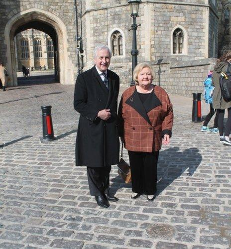 Sir James Perowne and councillor Eileen Quick