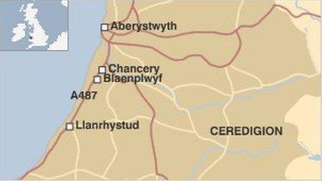 Map blaenplwyf