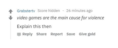 Reddit comment from Grabstertv