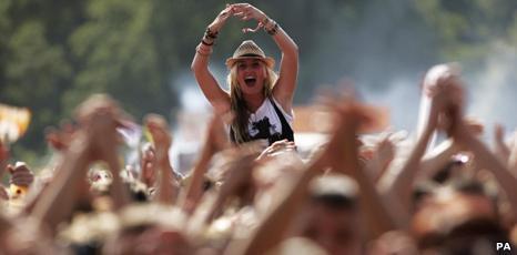 Fans at V Festival in Chelmsford