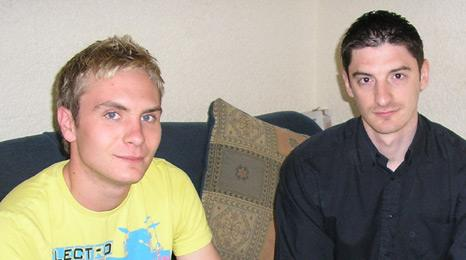 Young BNP members Joey and Mark