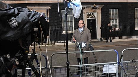 BBC political editor Nick Robinson outside 10 Downing Street