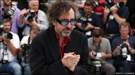 Tim Burton meets the press at the Cannes Film Festival