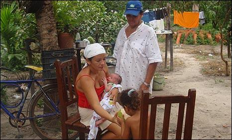 Francineide Da Rocha, her father Joao and her children