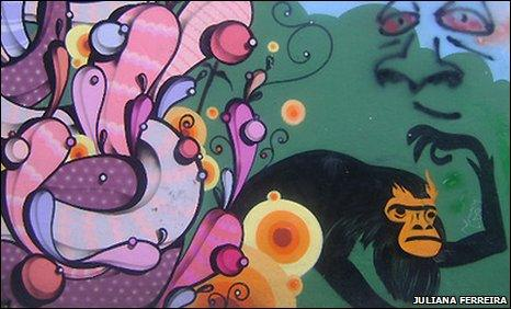 Graffiti art in Sao Paulo. Photo by Juliana Ferreira