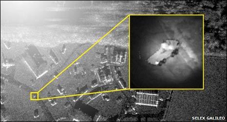 Radar image of possible insurgent vehicle