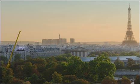 Dinner in the Sky in Paris