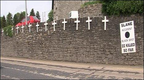 Twenty-two people have been killed in road accidents in Slane in the last 20 years