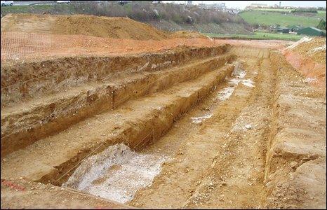 Trench in Dartford (southampton University)