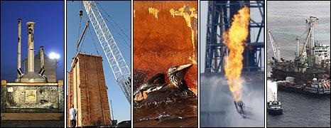 Top hat, containment dome, bird in oil, flared gas from insertion tube, top kill done through Q4000 rig