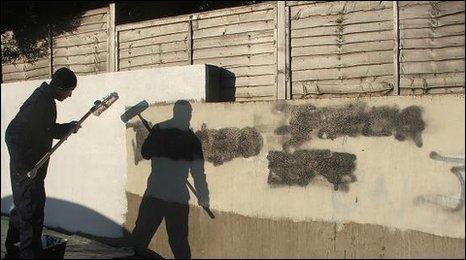 Graffiti replaced